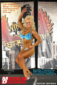 Body builder competition photo